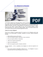 Schema de Vaccinare Obligatorie in Romania