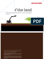 Lay of the Land - Improving Land Governance to Stop Land Grabs