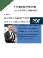 Il Liceo Vittorio Imbriani Incontra e Dibatte Con Peppe Sannino