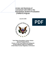 Overview and Summary of NRC Involvement with DOE in the Tank Waste Remediation System-Privitization (TWRS-P) Program.