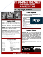 TNT5 Skills Academy Flier Forest City 2013