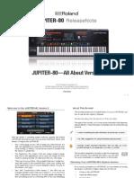 JUPITER-80 Version 2 ReleaseNote