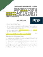 Formato Contrato de Honorarios Asimilado a Salarios
