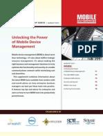 Unlocking the Power of MDM Aug 2011