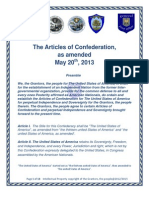 The Articles of Confederation, As Amended May 19th, 2013