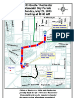 Greater Rochester Memorial Day Parade map