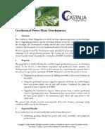 Castalia Partners - Geothermal Power