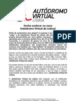 COMUNICADO DE IMPRENSA | AUTÓDROMO VIRTUAL DE LISBOA
