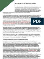 Contrat D'accord D'utilisation du Site Web (PWP)