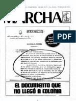 Semanario Marcha - El documento que no llegó a Colonia