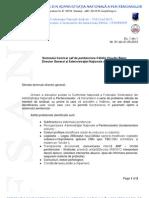 Adresa Probleme Conferinta Nationala FSANP 17-19.05.2013