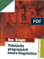 Sue Knight Tehnicile Programarii Neuro Lingvistice