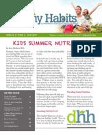 June 2013 - Developing Healthy Habits