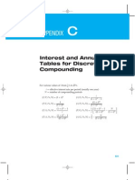 Interest and Annuity Tables for Discrete and Continuous Compounding