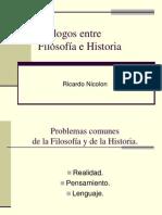 Diálogos entre Filosofia e Historia