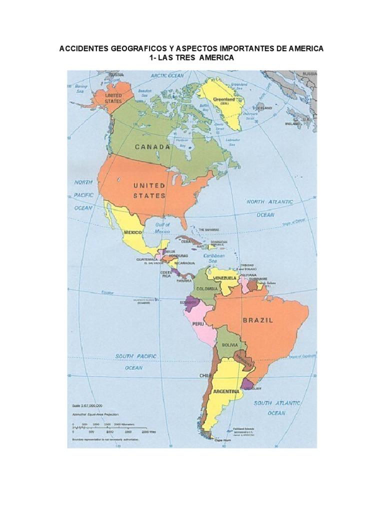 Accidentes Geograficos Y Aspectos Importantes De America Clima Américas