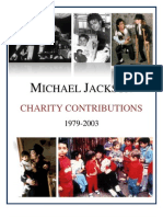 Michael Jackson's Humanitarian Efforts 1979-2003