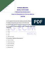 Modelo Examen Medicina 2012 - Biologia i - Aporte Gecim