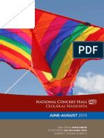 National Concert Hall's June-August Calendar of Events 2103