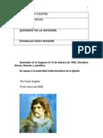 Giordano Bruno Quemado en La Hoguera
