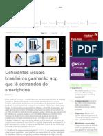 MOBILE TIME - Deficientes visuais brasileiros ganharão app que lê comandos do smartphone
