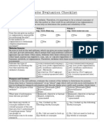 Website Evaluation Checklist