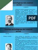 Teorías Sociológicas del Control Social