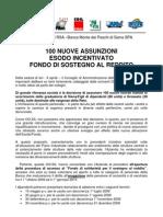 MPS Comunicato Unitario Esodo 2009
