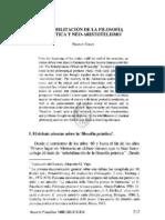 VOLPI, FRANCO, REHABILITACIÓN DE LA FILOSOFÍA PRÁCTICA Y NEO-ARISTOTELISMO, 1