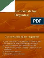 Uso hortícola de las orquídeas