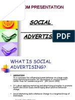 Social Advertising ppt