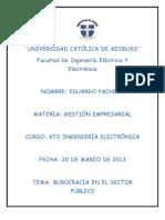 3 Burocracias en El Sector Publico