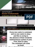 Inspiring Thoughts of Swami Vivekananda on Education and Society - Part 2