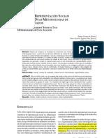 O estudo das representações sociais através de duas metodologias de análise de dados