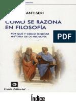 Como Se Razona en Filosofia - Dario Antiseri
