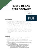 El Objeto de Las Ciencias Sociales (2)
