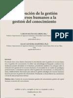 Contribucion de La Gestion de Recursos Humanos a La Gestion Del Conocimiento