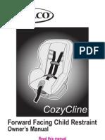 Graco CozyCline Forward-Facing Car Seat - OWNER'S MANUAL