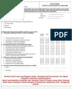 68335797 Form Survey Kepuasan Pelanggan