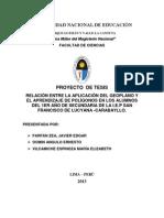 PROTOCOLO DE PROYECTO DE INVESTIGACIÓN