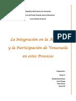 LA INTEGRACION EN AMERICA Y LA PARTICIPACIÓN DE VENEZUELA EN ESTOS PROCESOS.docx