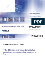 Watts Powers Pressuredrop Valvesizing