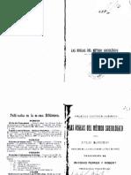 Durkheim-Las Reglas Del Metodo Sociologico