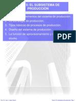 Tema 5 El Subsistema de Produccion