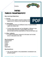 Famous Philanthropists