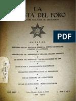 Revista del foro (Colegio de Abogados) 1948