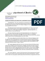 Settlement USDOJ FILING News Release1