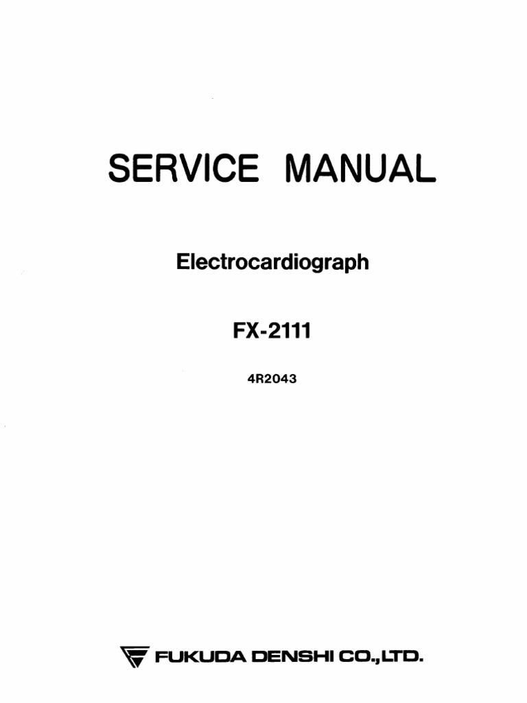 Fukuda Denshi FX-2111 ECG - Service Manual (1) | Power Supply | Amplifier
