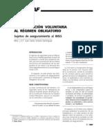 Incorporación voluntaria al régimen obligatorio. Sujetos de aseguramiento al IMSS