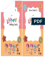 Editable Lalaloopsy Invite